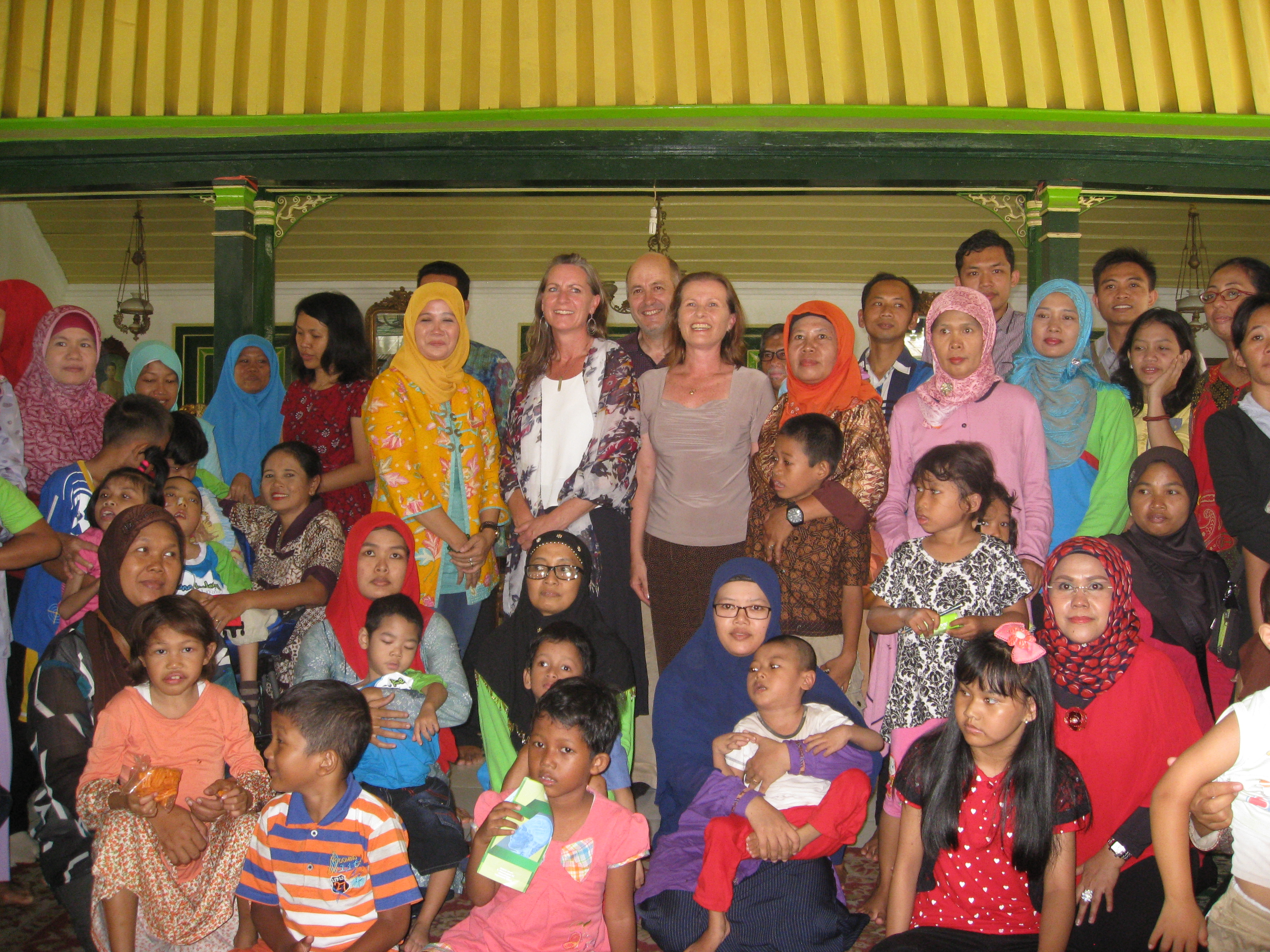Photograph of a group of Disabled People's Organisations Collaborators in Indonesia