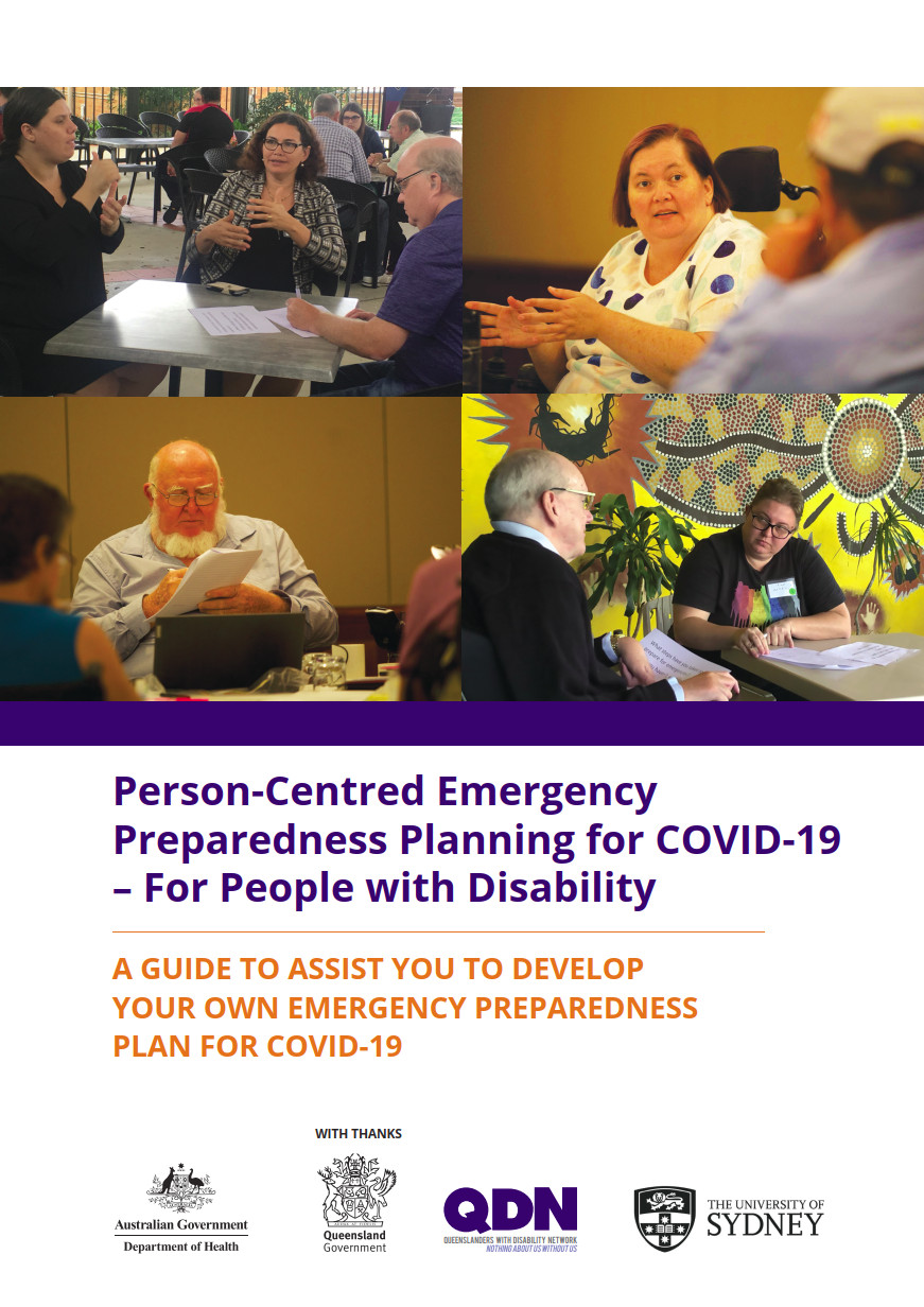 Cover of Person-Centred Emergency Preparedness Planning for COVID-19
