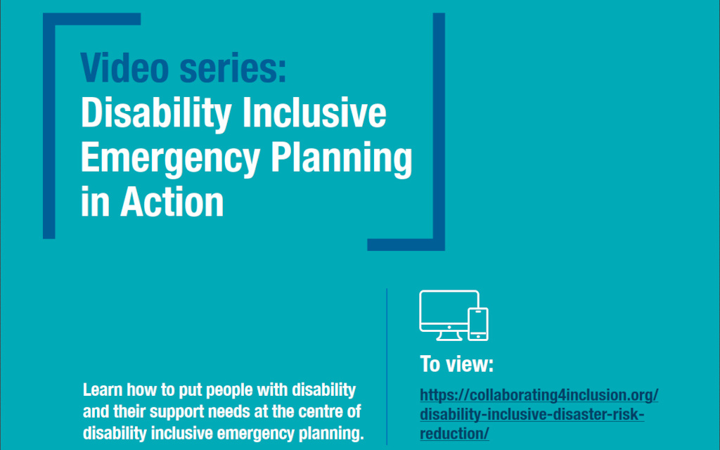 Disability Inclusive Emergency Planning Video Series.